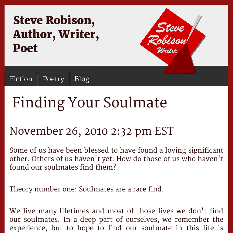 Finding Your Soulmate Steve Robison
